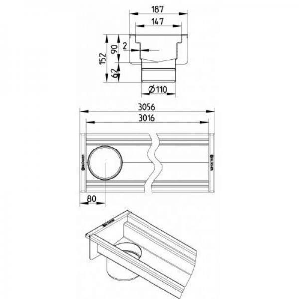 Blucher nacrt 150x3000 mm