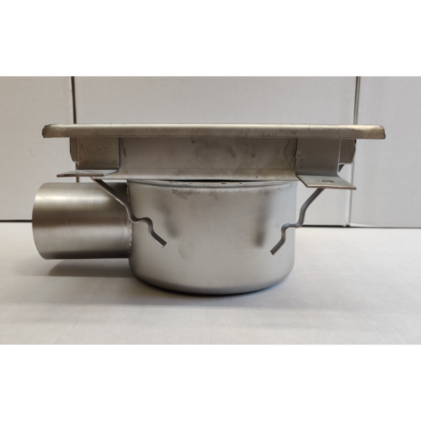 Inox slivnik 300x300 mm, horinzontalni DIA 75-1