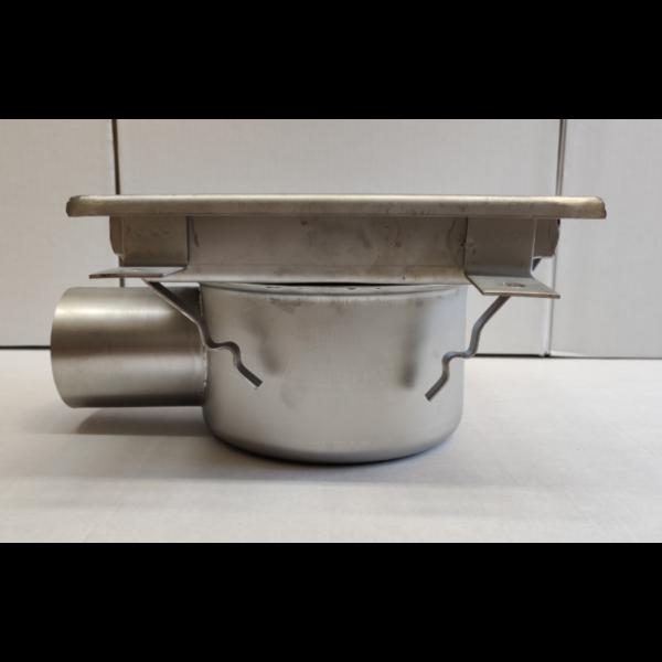 Inox slivnik 400x400 mm, horinzontalni DIA 75-1