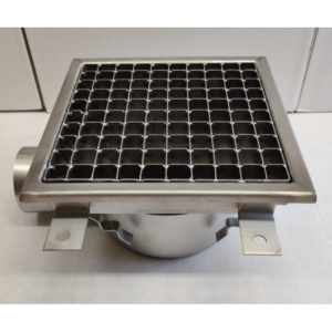 Inox slivnik 300x300 mm, horinzontalni DIA 75