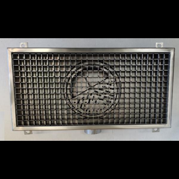 Inox slivnik 300x600 mm, horinzontalni DIA 75
