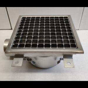 Inox slivnik 400x400 mm, horinzontalni DIA 75